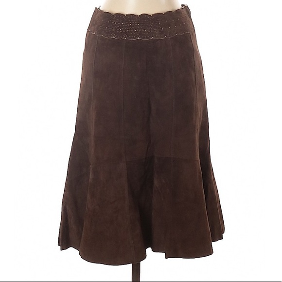CAbi Dresses & Skirts - Cabi Leather Suede Skirt